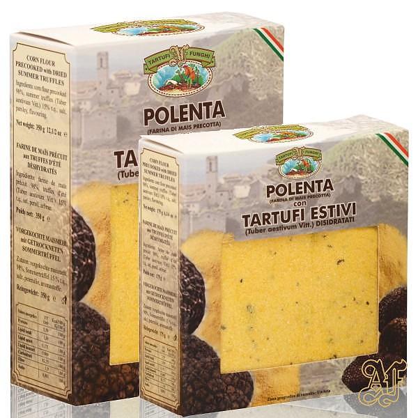 polenta con tartufi pronta
